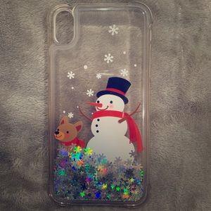 iPhone XR Christmas Glitter Case